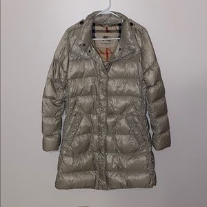 Burberry Authentic Long Down Coat *missing pieces